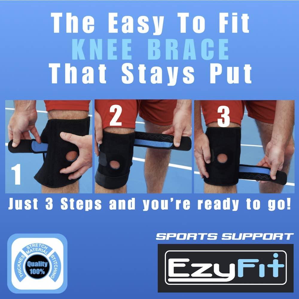 adjustable knee brace for large legs